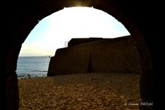Crépuscule sur une forteresse